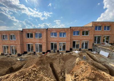 ETAPA A – RODINNÉ DOMY - Bydlení Zbýšov, výstavba, září 2021